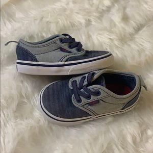 Vans Toddler Denim Style Sneaker Size 5